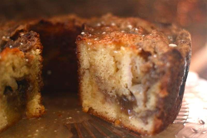 Double Decker Peach Yogurt Coffee Cake - The Seaside Baker