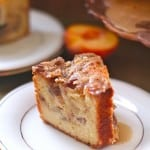 Double Decker Peach Yogurt Coffee Cake