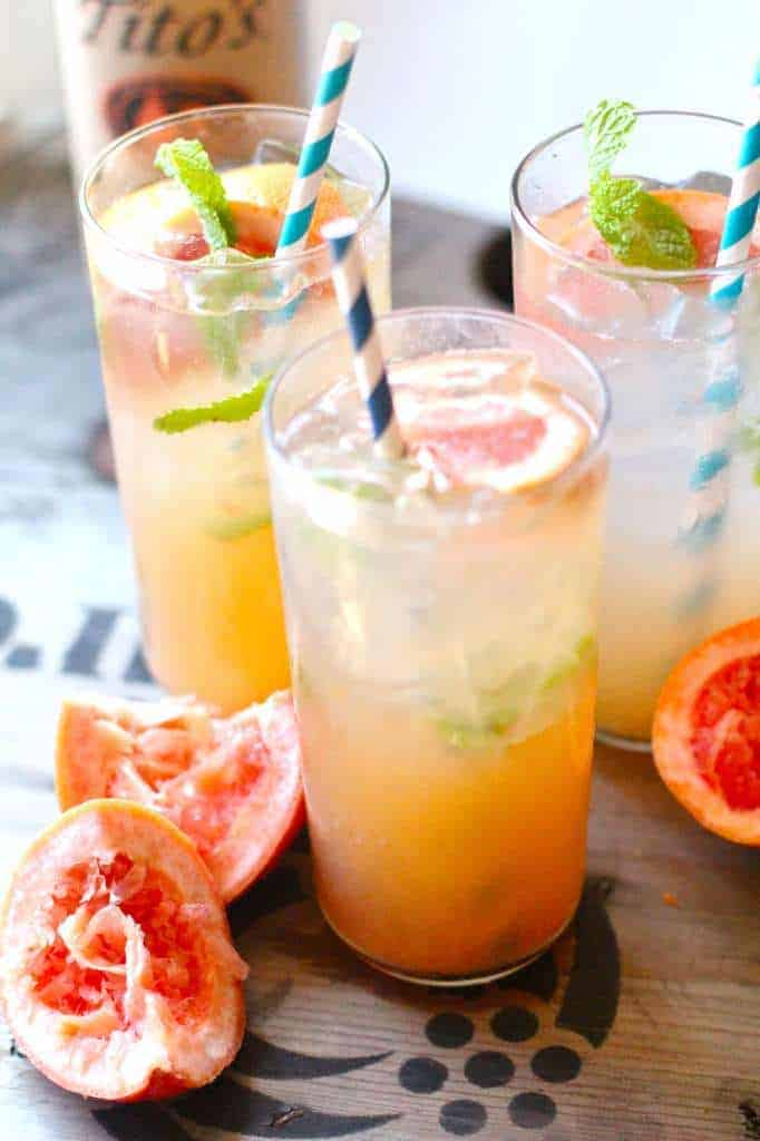 Grapefruit Mint Cocktail