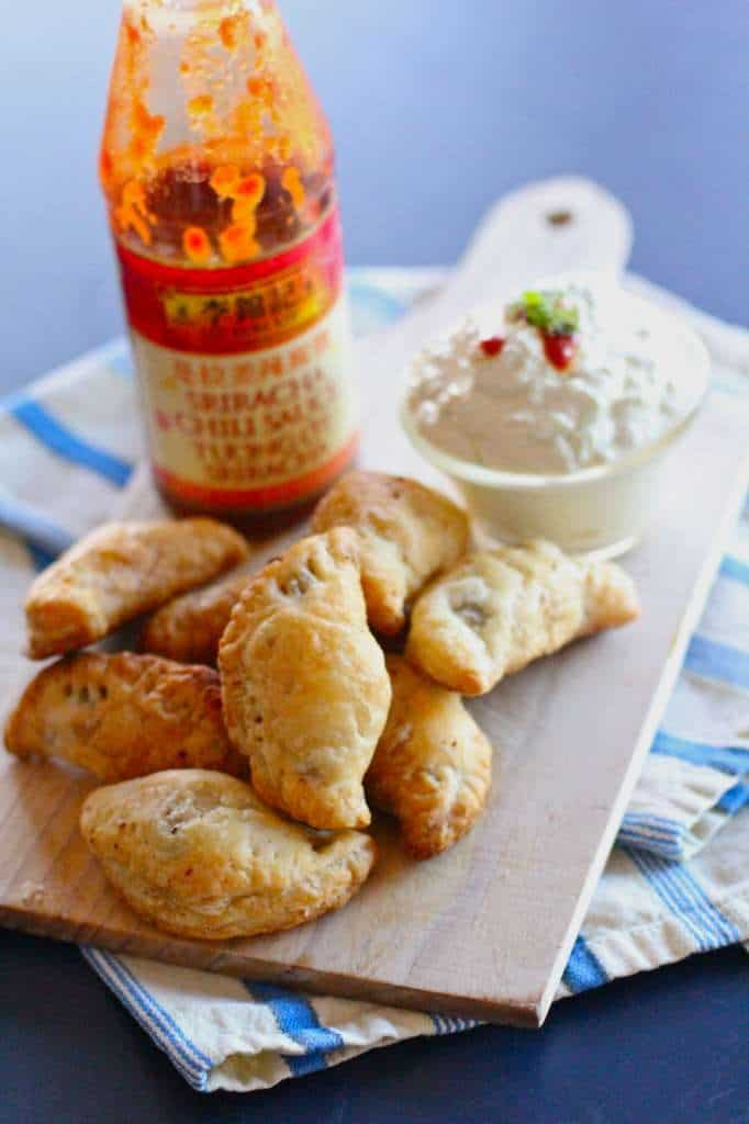 Sriracha Beef Empanadas with Simple Green Curry Dipping Sauce