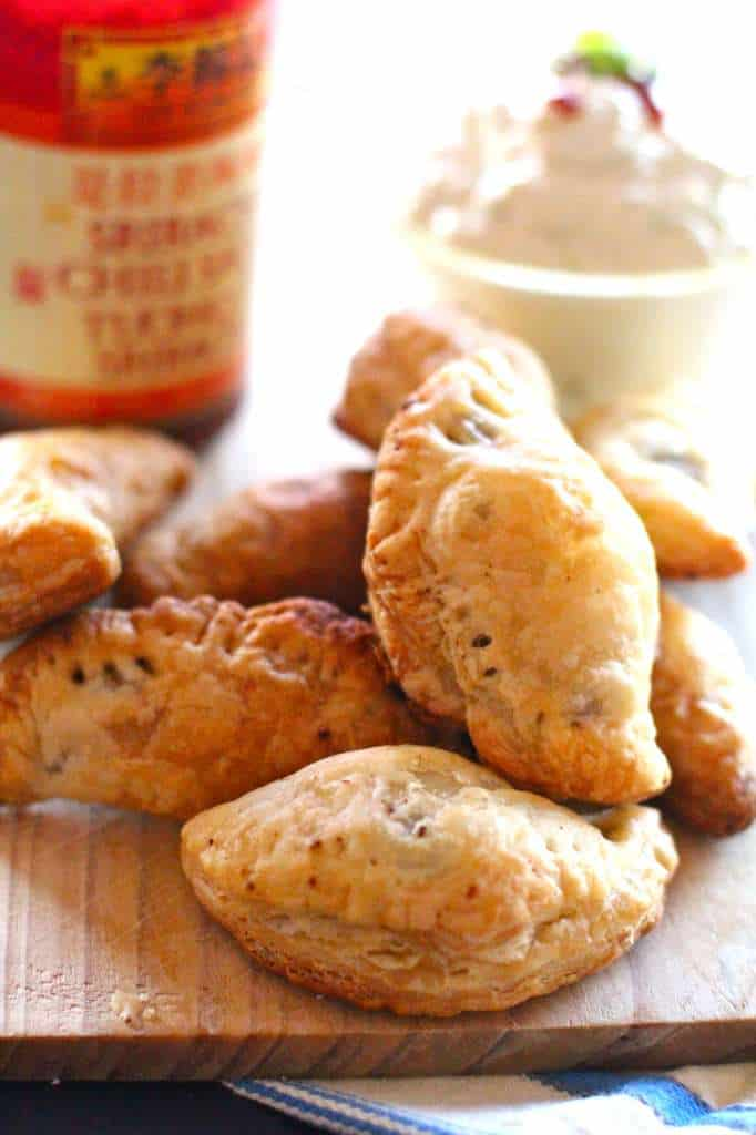 Spice Empanadas with Cool Green Curry Dipping Sauce