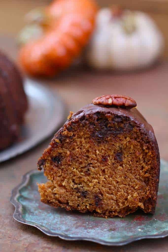 Chocolate Pumpkin Bunt Cake