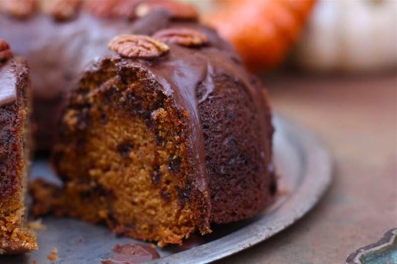 Browned Butter Pumpkin Chocolate Chip Bundt Cake