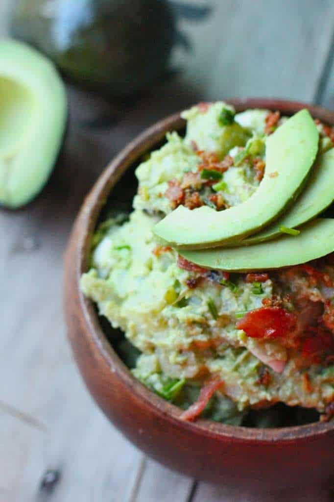 Avocado Potato Salad with Bacon