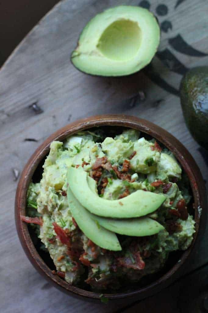 Avocado Potato Salad with Cilantro and Lime