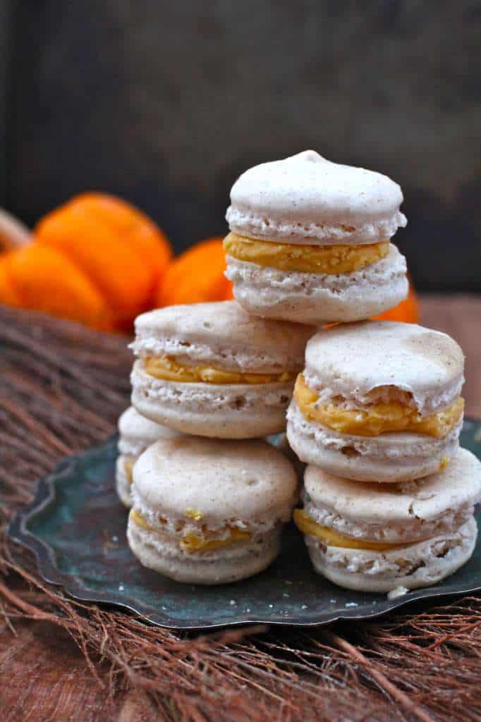 Perfectly Spiced Pumpkin Spice Macarons