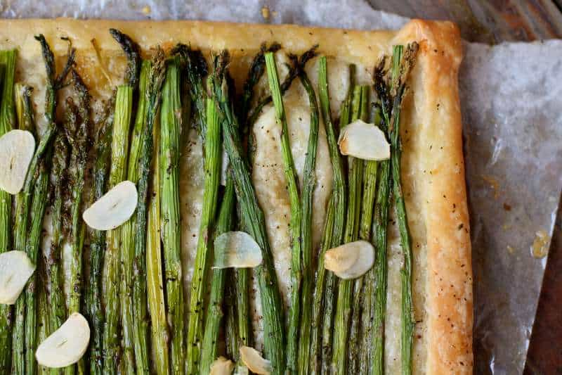 Asparagus Gruyere and Garlic Tart