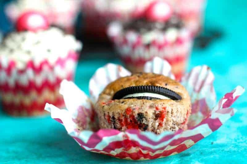 Oreo Funfetti Cupcake