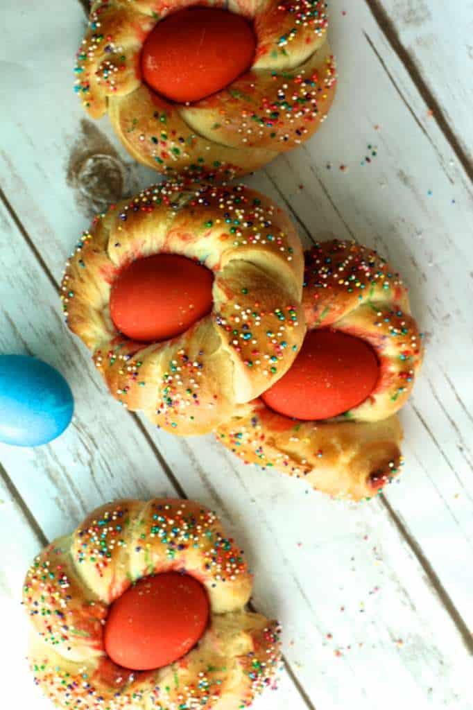 Coloful Easter Brioche