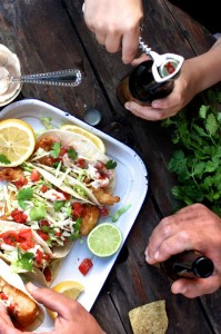 Beer Battered Fish Tacos with Chipotle Tartar Sauce
