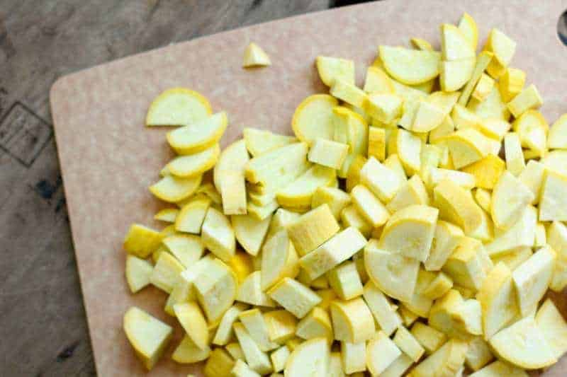chopped yellow squash