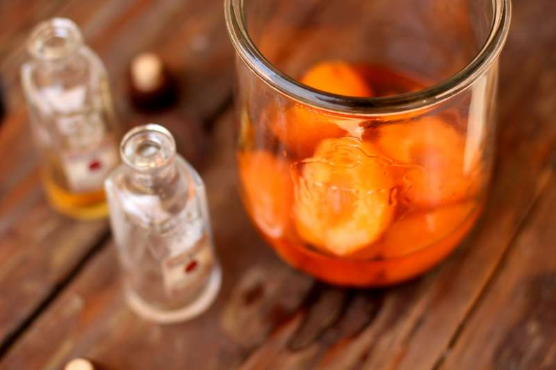 Bourbon Soaked Apricots