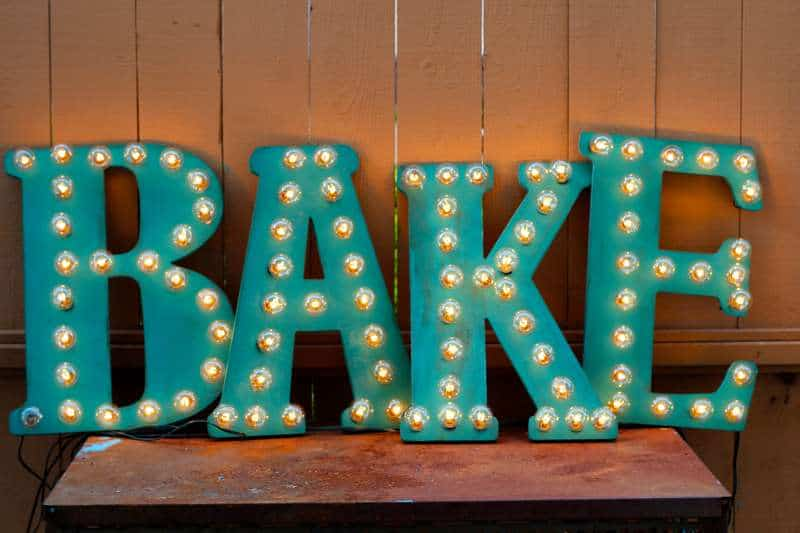 DIY Electric Markey Sign made with FolkArt® Home Decor™ Chalk