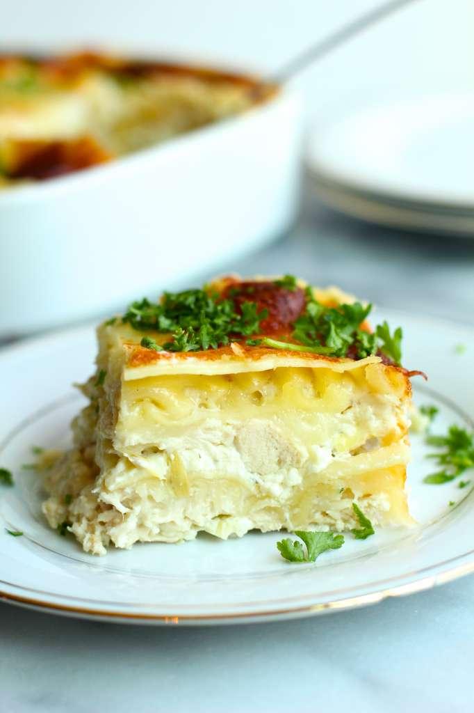 greek yogurt spread lasagna