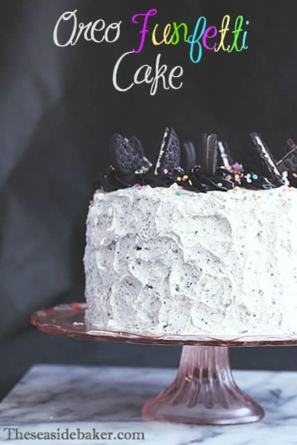 Terrific Oreo Funfetti Cake Personalised Birthday Cards Paralily Jamesorg