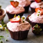 strawberry cupcakes by sprinkle's