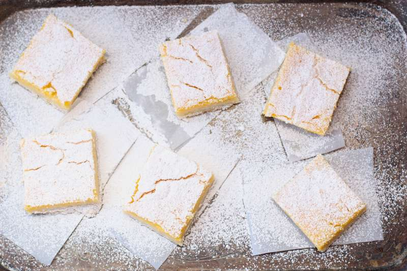 lemon bars with passion fruit