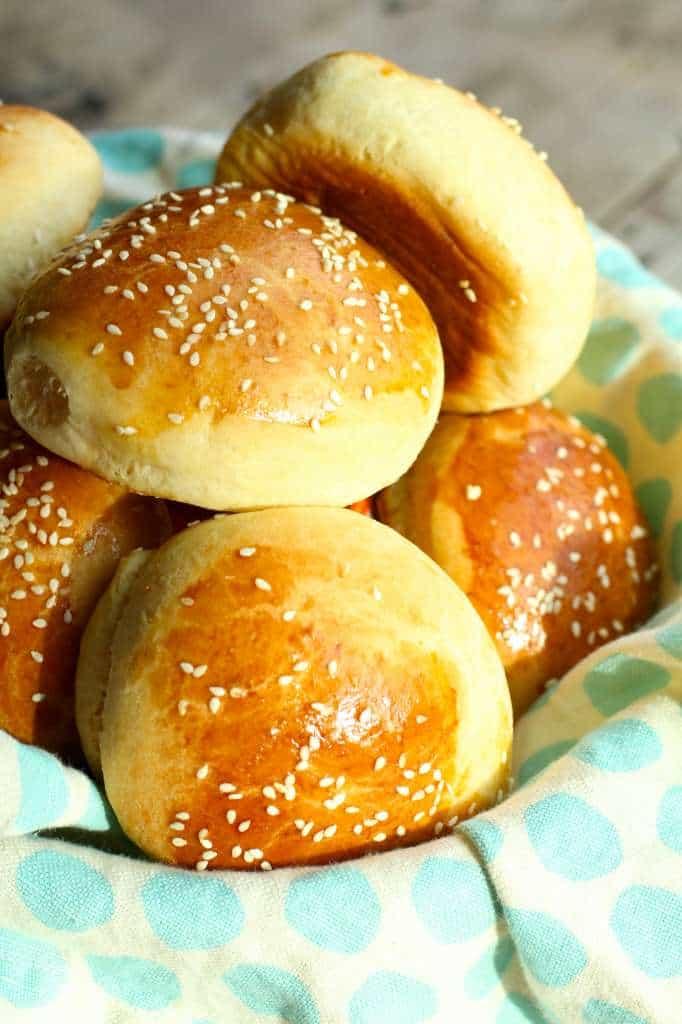 homemade brioche buns