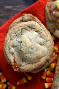 Candy Corn Surprise Cookies