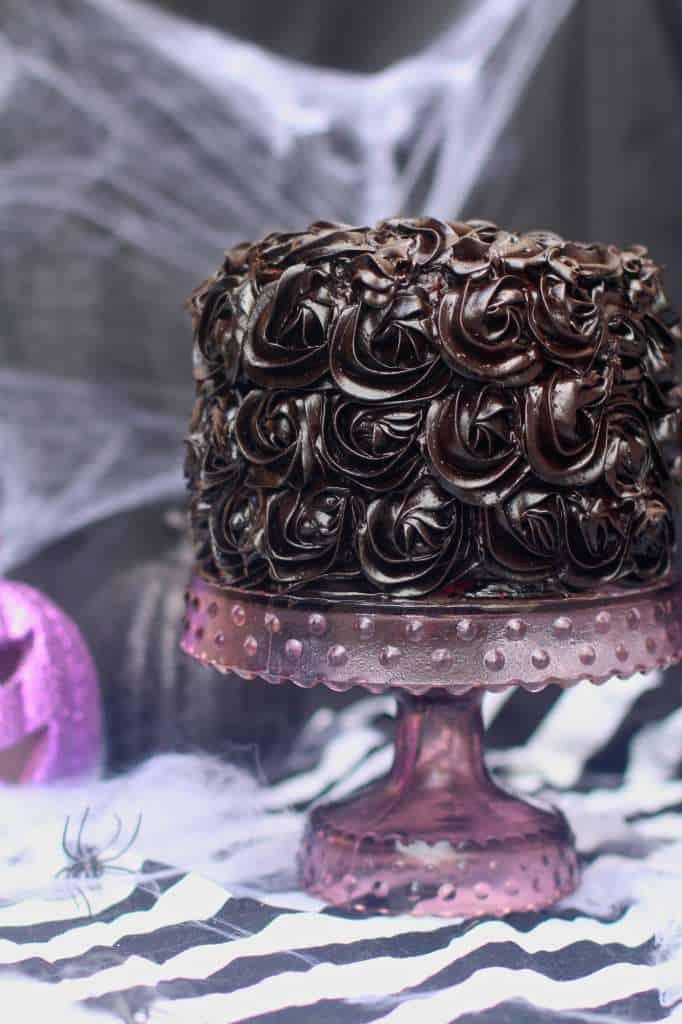 Red Velvet Halloween Cake halloween cake
