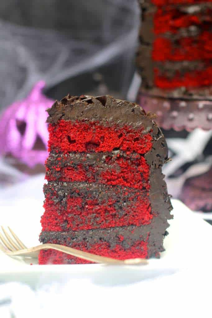Red Velvet Halloween Cake