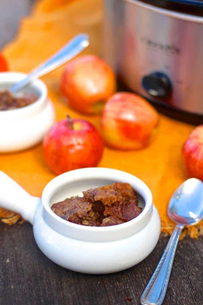 slow cooker apple cobbler/crisp