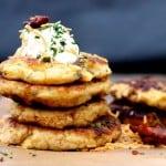 Bacon Cheddar Mashed Potato Pancakes #TasteTheSeason #CollectiveBias