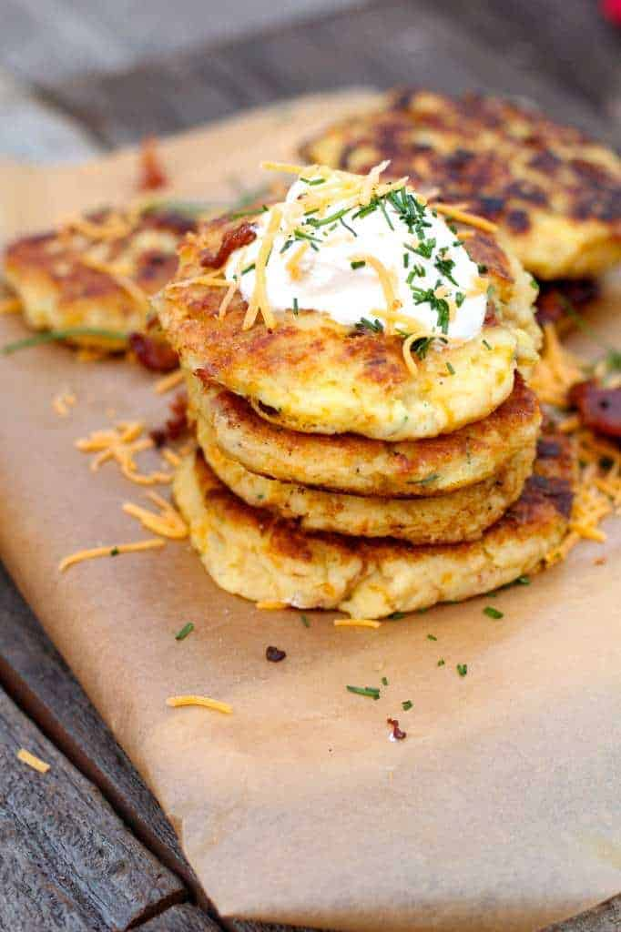 Bacon Cheddar Mashed Potato Pancakes #TasteTheSeason #CollectiveBias ...