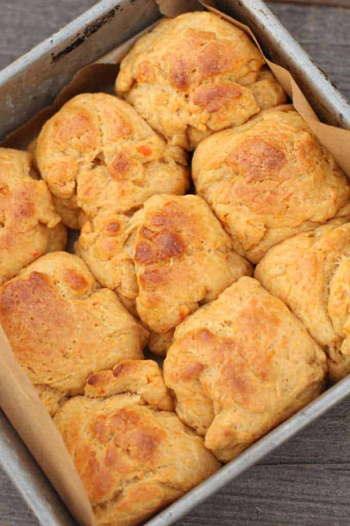 Sweet Potato and Pecan Dinner Rolls