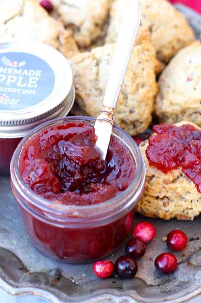 apple cranberry jam homemade