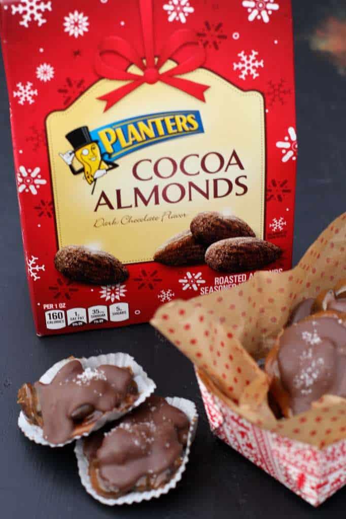 cocoa almond turtles