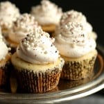 Champagne Cupcakes with Rose Hibiscus Buttercream