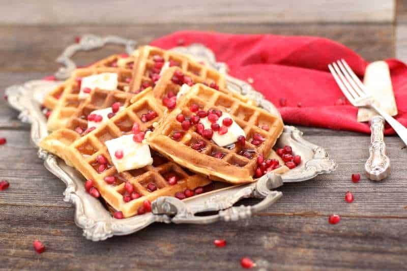 breakfast eggnog waffles