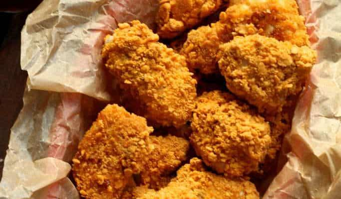 Gold Fish Crusted Chicken Nuggets