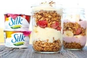 Vanilla Almond Granola Silk Dairy-Free Parfaits
