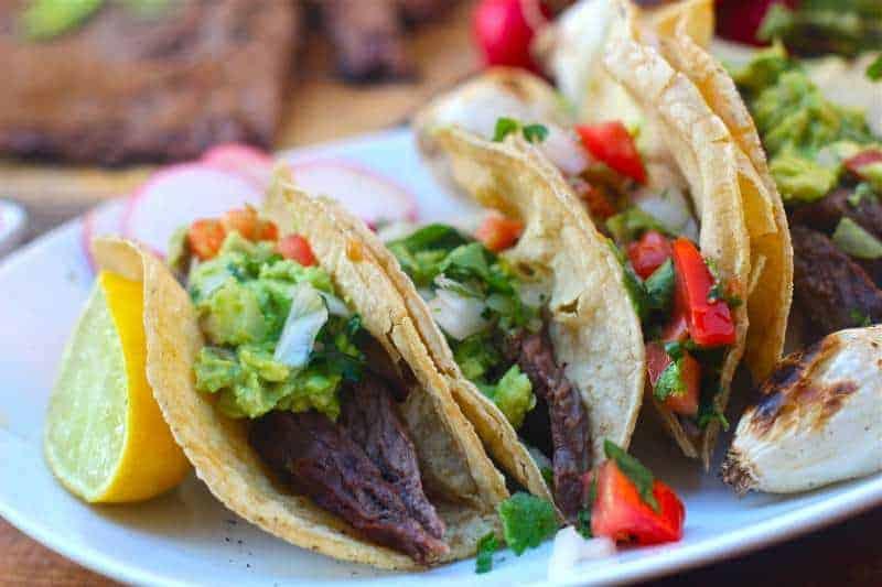 Homemade Carne Asada Tacos