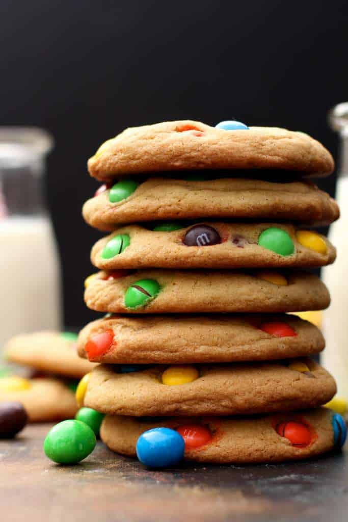 Thick and Chewy M&M's cookies