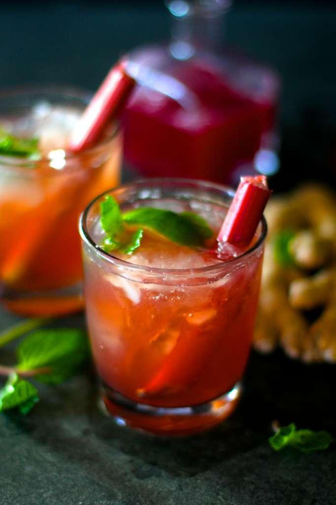 ginger rhubarb cocktail