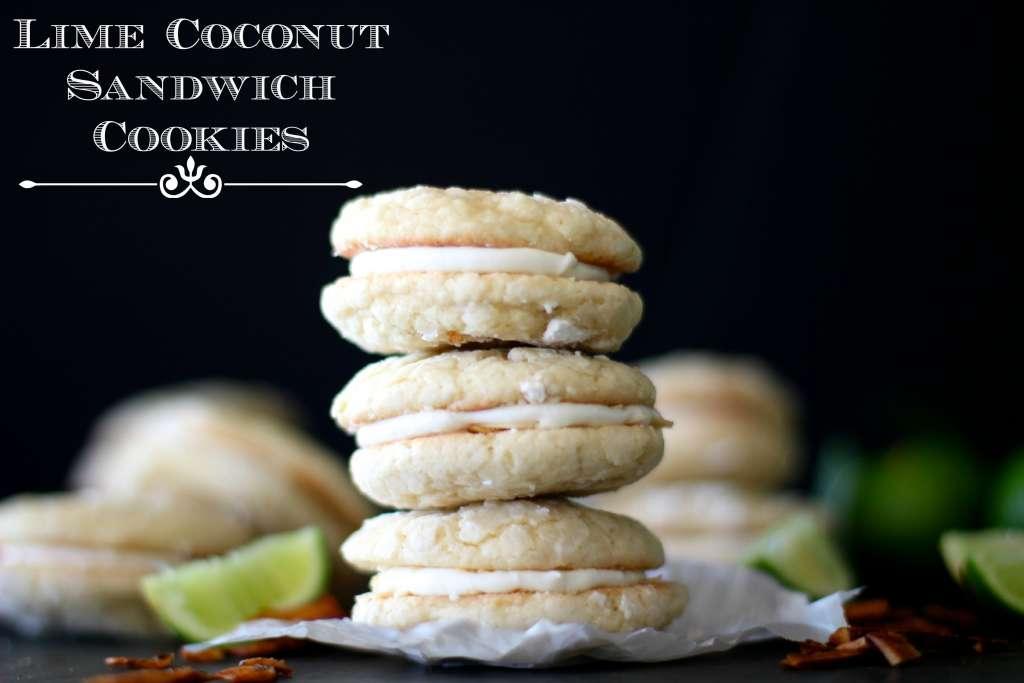 lime coconut sandwich cookies