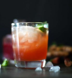 Rhubarb Ginger Cocktail