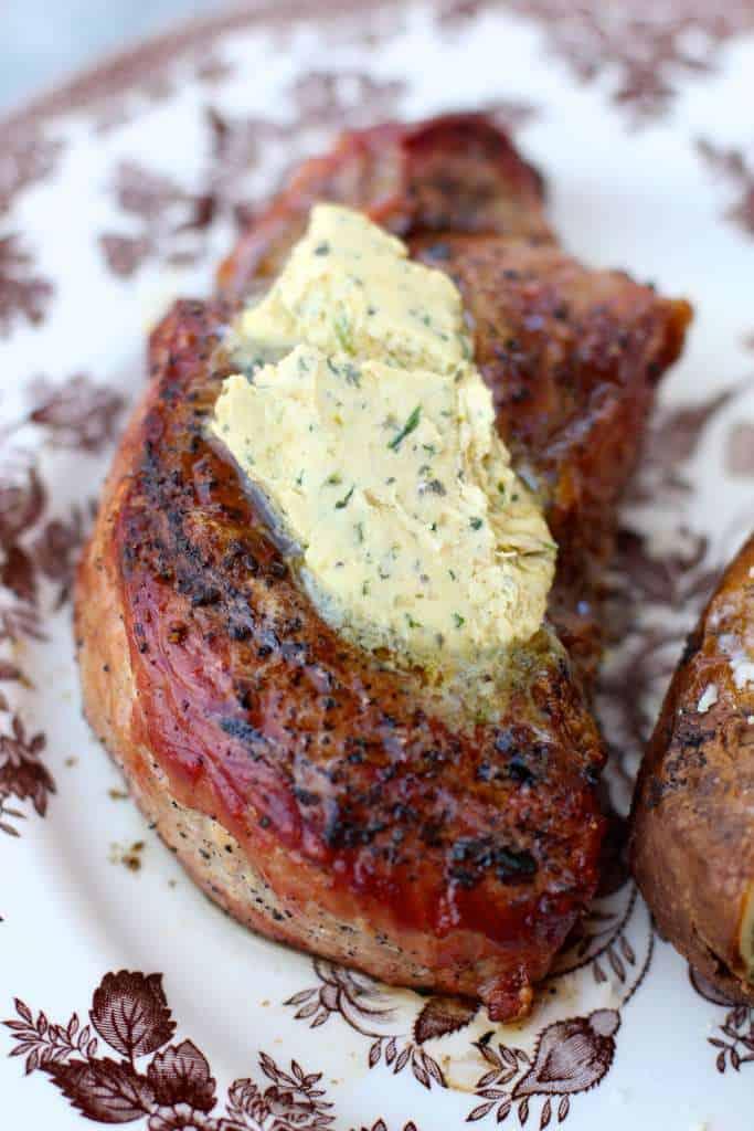 Cafe de Paris on top of steaks
