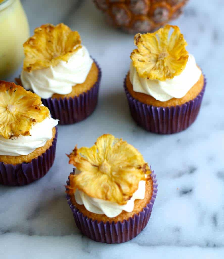 Tripe Pineapple Cupcakes