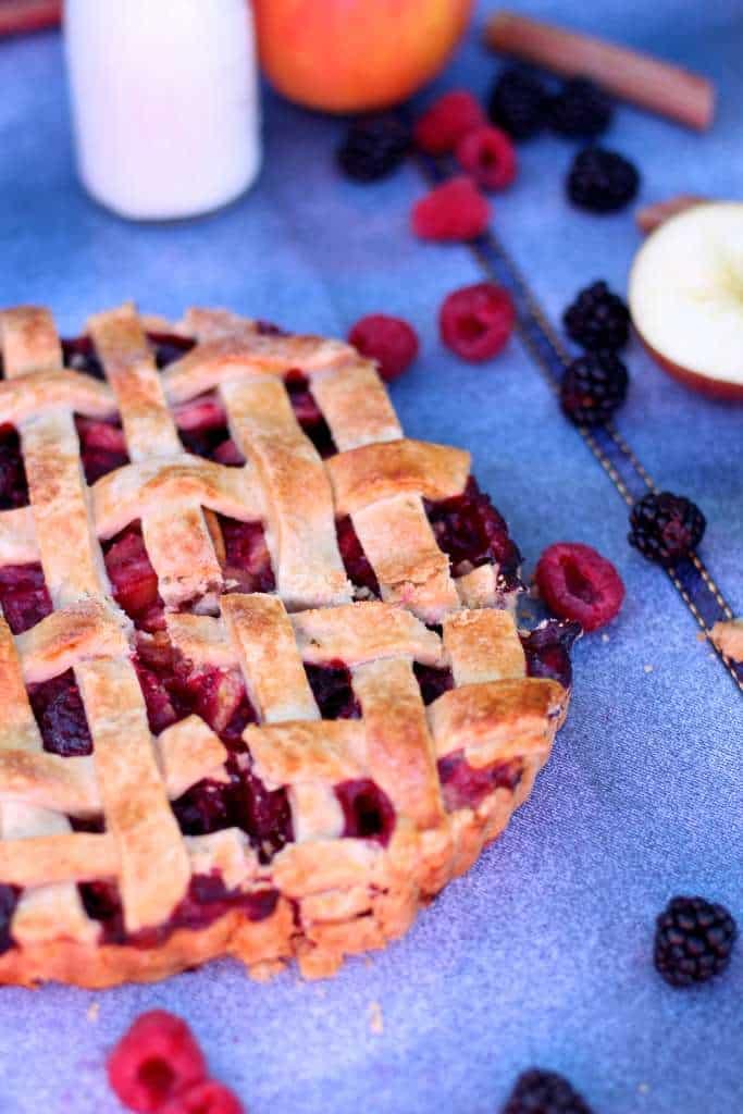 apple berry rhubarb tart