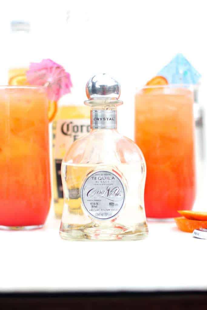Casa Noble Corona Sunrise Cocktails via The Seaside Baker