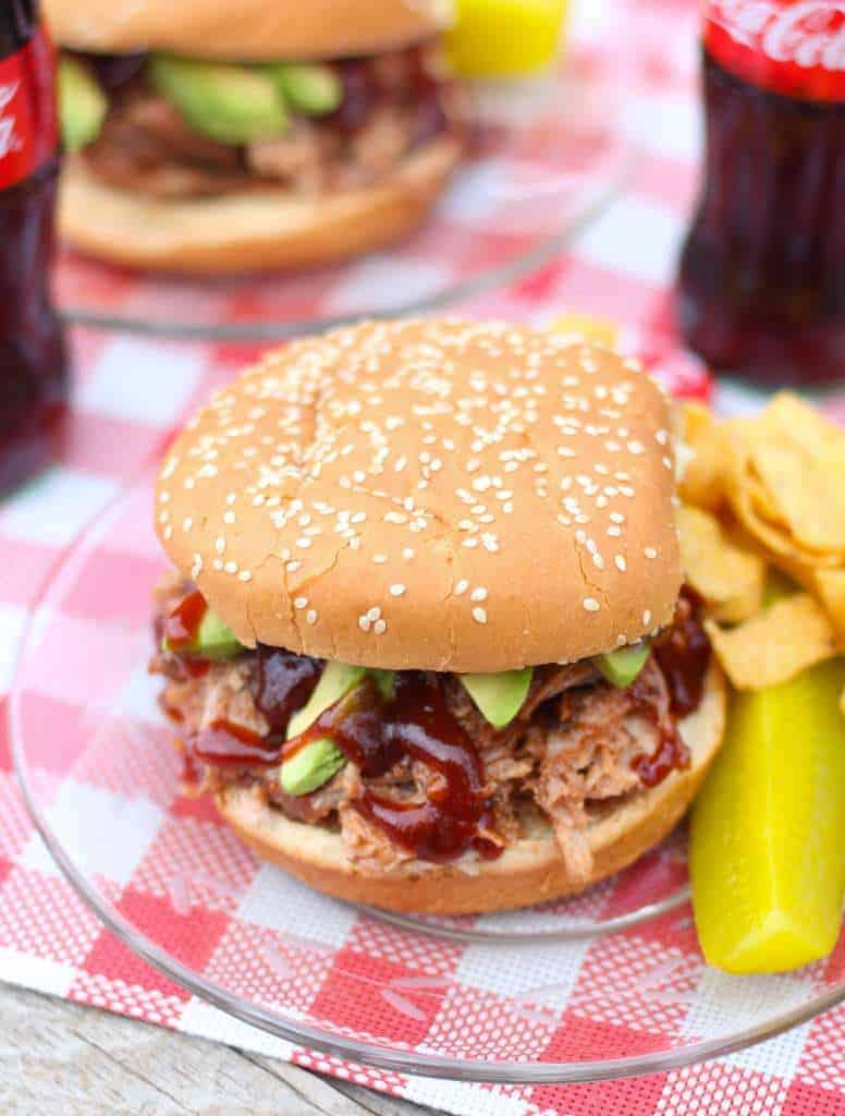 Crock Pot Pulled Pork BBQ Sandwiches