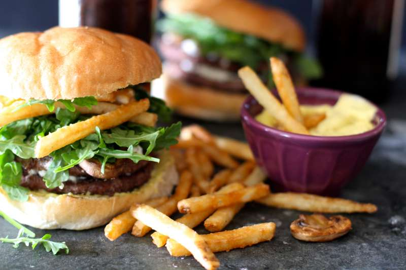 Gourmet French Burgers with Aioli