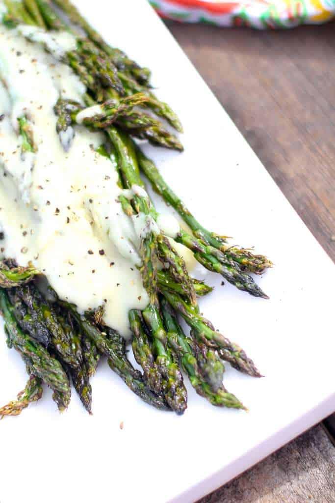 Baked Asparagus and Hollandaise
