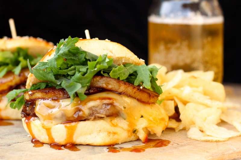 Hawaiian Style Grilled Teriyaki Burgers