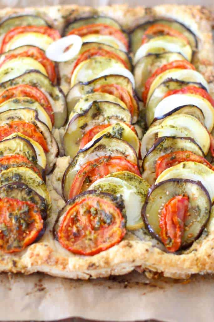 Ratatouille Pesto Tart