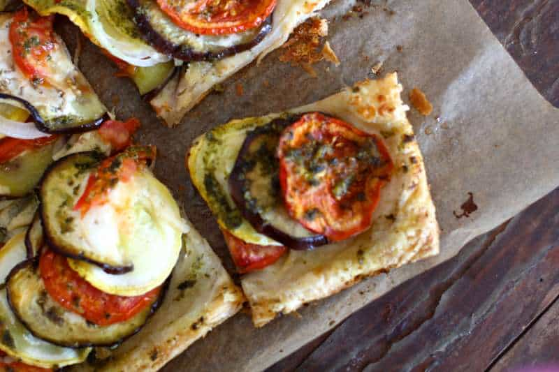 Slice of Ratatouille Tart